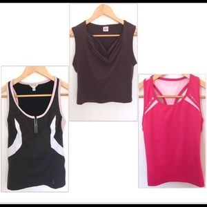 Set of 3 fitness / yoga / athletic / sports tops